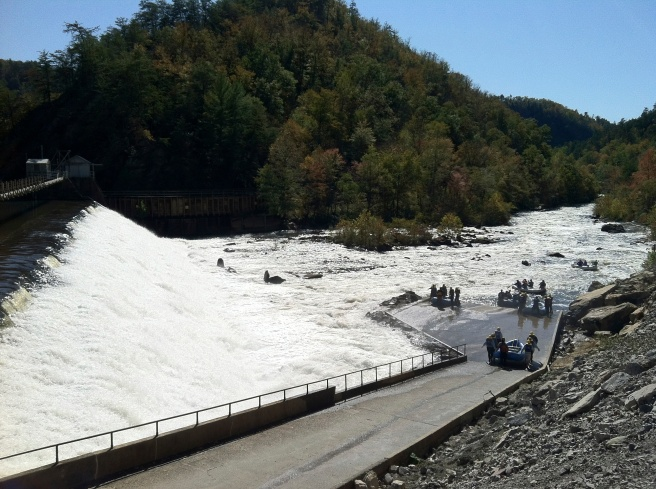 The white water rafters on the Ocoee River - can't wait to do that soon!